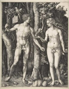 "title=""albert durer madrid tourist guides blog"" alt=""durer adam and eve engrave"